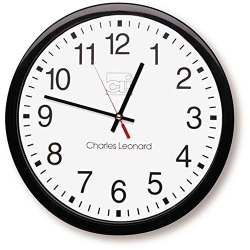 Used, Charles Leonard Wall Clock, 14 Inch Thinline Quartz for sale  Delivered anywhere in USA