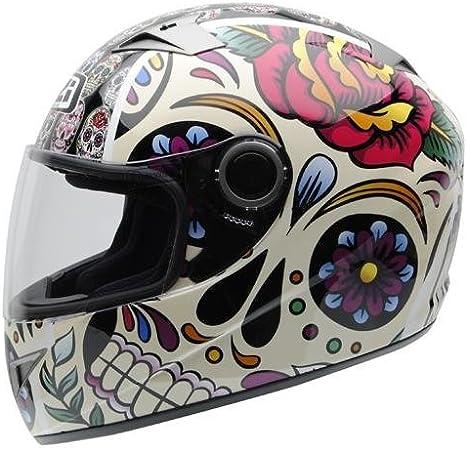NZI - Casco Integral Must II Mexican Skulls (S): Amazon.es: Coche y moto