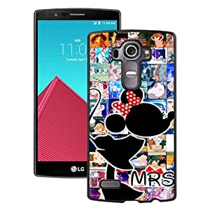 LG G4 Mrs Disney Valentines Lovers Kiss Gift Love Sweet Black Screen Phone Case Attractive and Hot Sale Design