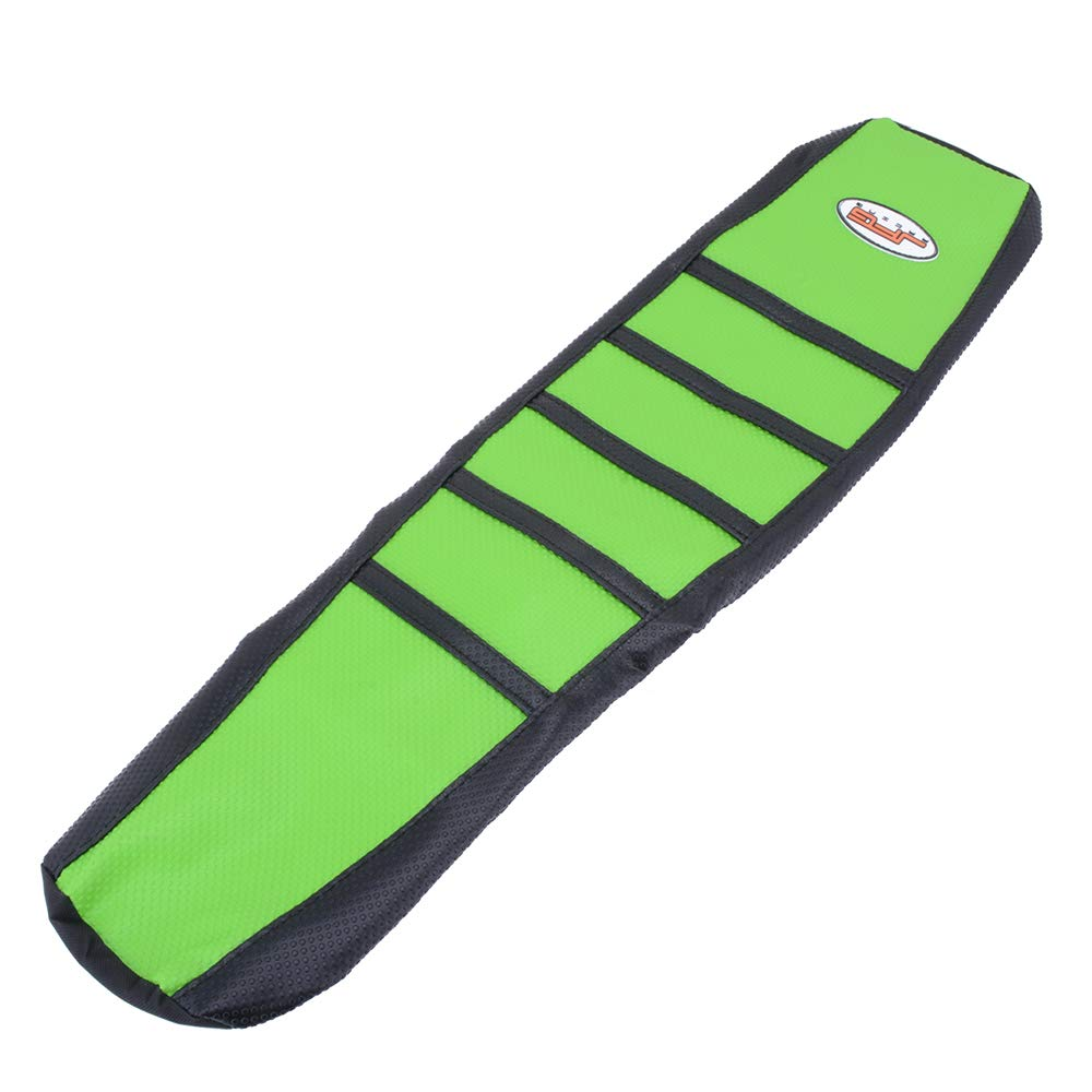 Green Color YSMOTO Motorcycle Gripper Seat Cover Rubber Soft Skin Covers For Kawasaki KX125 KX250 94-98 1994-1998 Dirt Pit Bike Off Road