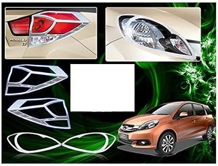 Honda Mobilio 2014 Head Light Tail Light Chrome Cover Set Of 4 Pcs