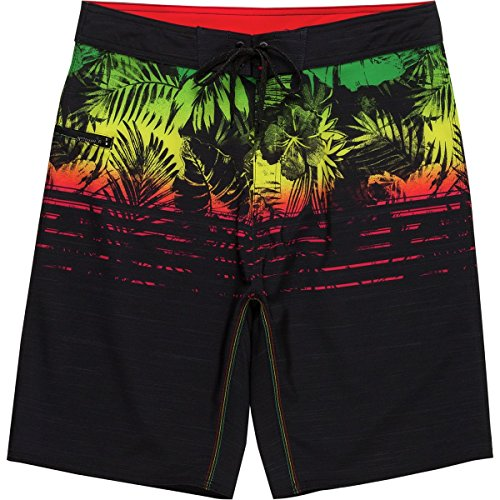 Burnside Men's Endless Quick Dry Stretch Beach Boardshort, Black One Love, 32 by Burnside