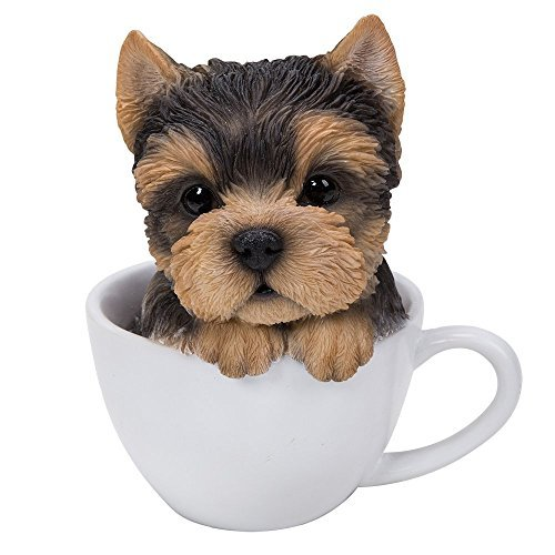 Collectible Dog Figurine (Pacific Giftware Adorable Teacup Pet Pals Puppy Collectible Figurine 5.75 Inches (Yorkie))