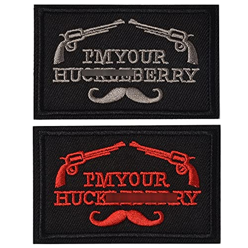 SHELCUP I'm Your Huckleberry Funny Tactical Military Morale Patch Hook & Loop Tactical Patch