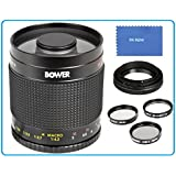Bower 500mm f/8 Telephoto Mirror Lens For Olympus PEN E-P1, E-P2, E-P3, E-P5, E-P6, E-PL1, E-PL2, E-PL3, E-PL5, E-PL6, E-PL7, E-PM1, E-PM2, E-P5, OM-D E-M1, E-M5, E-M10 & Panasonic Lumix DMC-G1, DMC-GM1, DMC-GX1, DMC-GF1, DMC-GH1, DMC-G2, DMC-GH2, DMC-GF2, DMC-G3, DMC-GH3, GF3, DMC-GF3, GF3KK, G5, DMC-G5H, DMC-GF5, DMC-G6, DMC-GF6, DMC-GX7, DMC-G10 Micro Four Thirds Compact System Cameras
