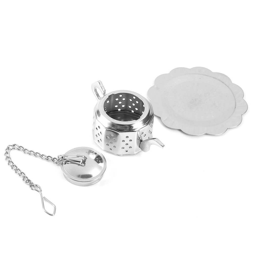 Stainless Steel Loose Tea Infuser Leaf Strainer Filter Diffuser Herbal Spice Teapot Shape