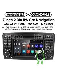 """Android 7.1 Quad Core En Dash Radio de coche para Mercedes Benz Clase ML W164 2005   2012 & ML300 & ML350 & ML450 & ML500 reproductor de DVD Navegación GPS 7"""" PC del coche estéreo unidad Jefe"""