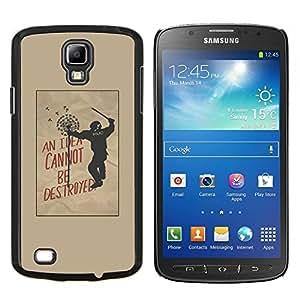 YiPhone /// Prima de resorte delgada de la cubierta del caso de Shell Armor - la libertad de la policía mensaje político activista - Samsung Galaxy S4 Active i9295