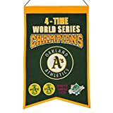 MLB Oakland Athletics 4 Time WS Champions Banner, One Size