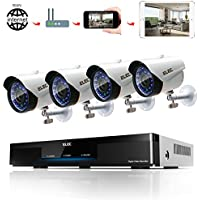 ELEC 8CH DVR 720P Video Security System 4PCS 1800TVL Weatherproof Outdoor Cameras Surveillance Kit, Free iOS Android APP, Motion Detection Email Alert, IR Night Vision 65FT, No Hard Drive