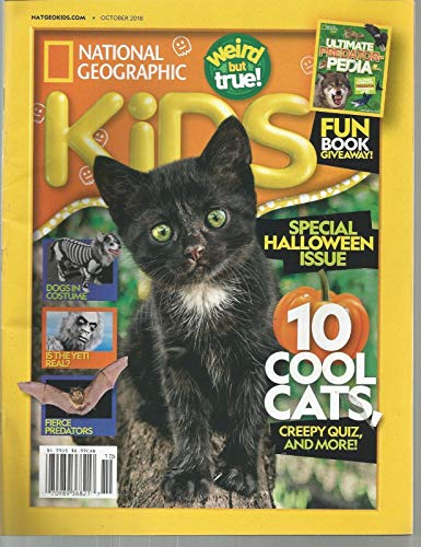 NATIONAL GEOGRAPHIC KIDS,SPECIAL HALLOWEEN ISSUE, OCTOBER 2018 ~