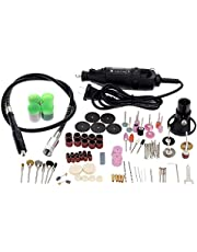 KKmoon Multi-Function Professional Electric Grinding Set 110-230V AC Regulating Speed Drill Grinder Tool for Milling Polishing Drilling Cutting Engraving Kit with 114pcs Accessories