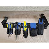 Scaffolding Blue Naylon Padded Tools Belt - Super 8 IN 1 ToolSet Edition With Safety Lanyards