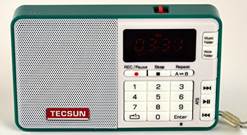 Tescun Q3 Mini Size MP3 Player, FM Radio and Voice/Radio Recorder (Green) (Quality Recorder)
