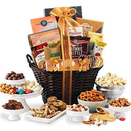 Gourmet Gift Basket of Chocolates, Cookies and Snacks Food Gift Baskets. The Perfect Gift for Birthdays, Sympathy or Any Occasion