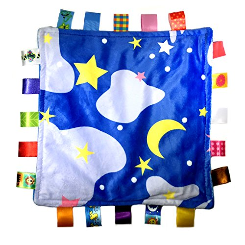Little Tag Style Colors Security Comforting Teether Blanket - Night Starry Sky -