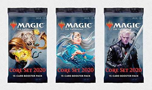 3 (Three) Booster Packs of Magic: The Gathering: Core Set 2020 (3 Pack - M20 Booster Pack Draft Lot Bundle)