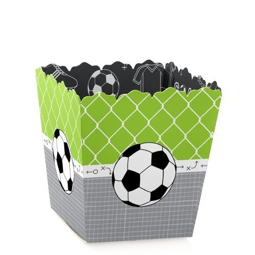 Goaaal - Soccer - Party Mini Favor Boxes - Baby Shower or Birthday Party Treat Candy Boxes - Set of 12