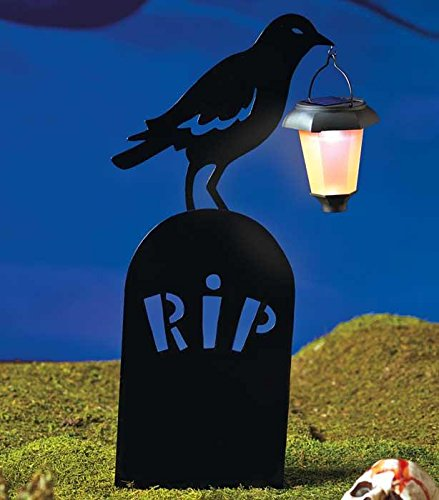 [NEW Halloween Silhouettes with Solar Lantern Witches Caldron Ghost Tombstone RIP (Expedite Ship)] (Corn On The Cob Dog Costume)