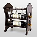 Classic creative home decoration tabletop Wine racks,Stylish simplicity wine bottle holder,Housewarming gifts-wood,Wine storage,Wine rack-A