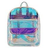 Candice Women Shiny Hologram Holographic Transparent Shoulder Bag Satchel Backpack School Bag