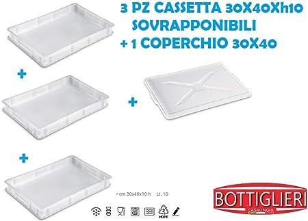 bottiglieri para Tris Caja para masas de Service 30 X 40 X De de Altura CM, con 1 Tapa: Amazon.es: Hogar
