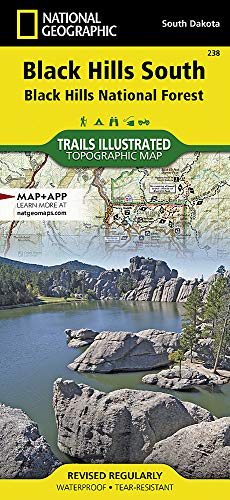 Black Hills South [Black Hills National Forest] (National Geographic Trails Illustrated Map)