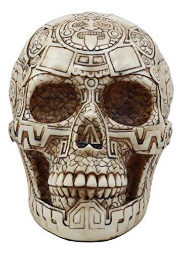Ebros Day of The Dead Mesoamerican Maya Aztec Gods Skull Statue 8