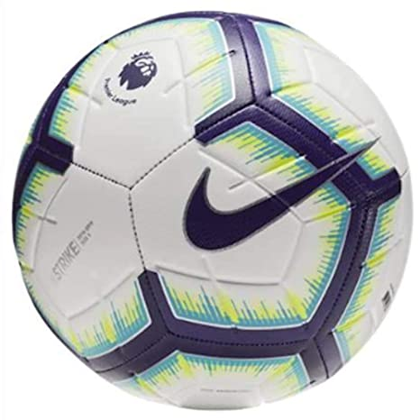 6e55f7bc3b6 Amazon.com   NIKE 2018-2019 EPL Strike Soccer Ball White Blue Purple ...