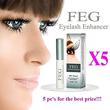 06e347a4f51 Image Unavailable. Image not available for. Color: 5 X FEG Eyelash Enhancer  Growth Liquid/Serum.