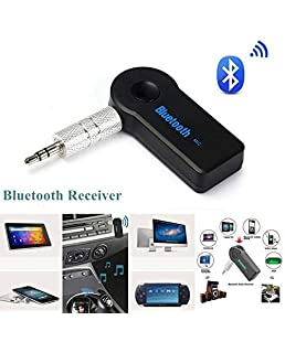 Drumstone Car Bluetooth Receiver Adapter with 3.5 Mm AUX Audio Stereo for Oppo F9 and Mi Note 5 Pro (Multicolour)