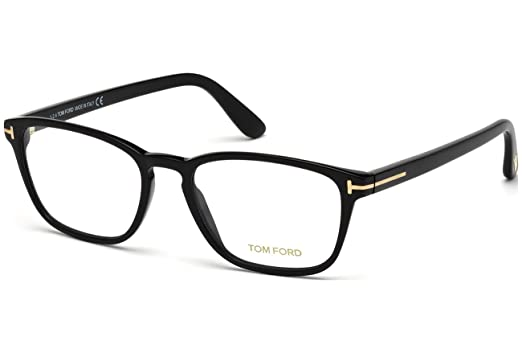 6a5448a6cca7 TOM FORD Eyeglasses FT5355 001 Shiny Black at Amazon Men s Clothing ...