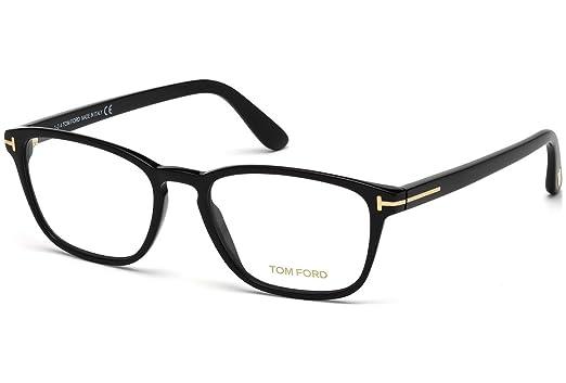 1216c3b2da23 TOM FORD Eyeglasses FT5355 001 Shiny Black at Amazon Men s Clothing ...
