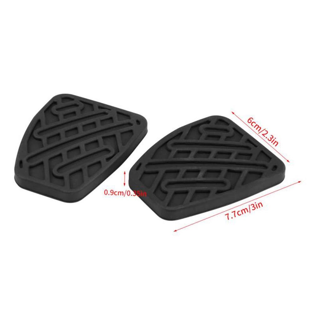 Provide The Best 1 par de Embrague del Freno de Pedal Cubierta de Goma Negro Antideslizante Almohadilla de Repuesto para Nissan Qashqai 2007-2016 ...
