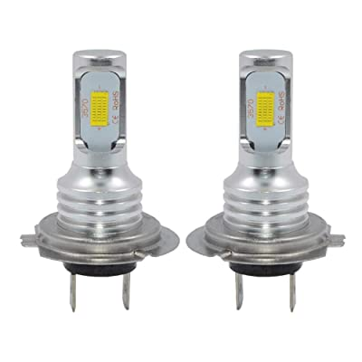 H7 LED Fog Light Bulb Newest Version 3570 CSP-Chips LED Fog Lamp Bulbs White 6000K Use For Fog Lights: Automotive [5Bkhe0413190]