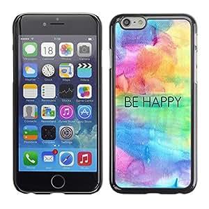 Suave silicona goma funda carcasa rígida protectora Accessory Compatible con Apple iPhone 6(4,7pulgadas)–Happy Quote Motivation
