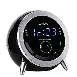 Memorex MC3533 Digital Alarm Clock Radio with FM Radio, 7 Color Gradient Night Light,Radio Presets,USB Charging Port,Aux-in,Bluetooth,Dual Alarm,Soonze,Sleep Feature,Dimmer