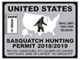 Sasquatch Hunting Permit - United States (Bumper Sticker)