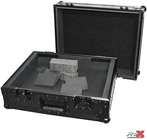 Prox Black Universal Dj Turntable Flight Gig Road Ready Case Fits