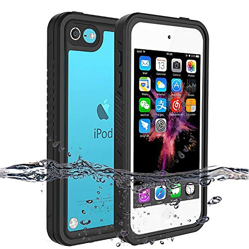 iPod 7 iPod 6 iPod 5 Waterproof Case, BESINPO Full-Body Protective Cover Built-in Screen Protector with Kickstand Shockproof Dustproof Case for iPod Touch 7th/6th/5th Generation