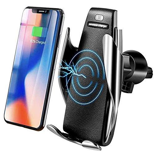 MMOBIEL Soporte Cargador inalámbrico teléfono para el Coche Sensor infrarrojo Qi Carga rápida 5W/7.5W/10W con iPhone 12…