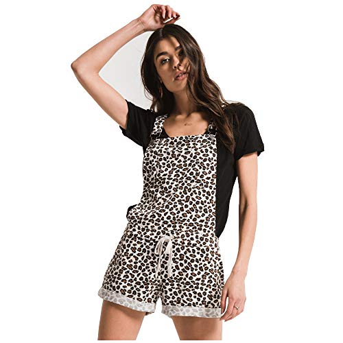 (Z Supply Clothing Women's The Multi Leopard Short Overalls, Natural Combo, Medium)