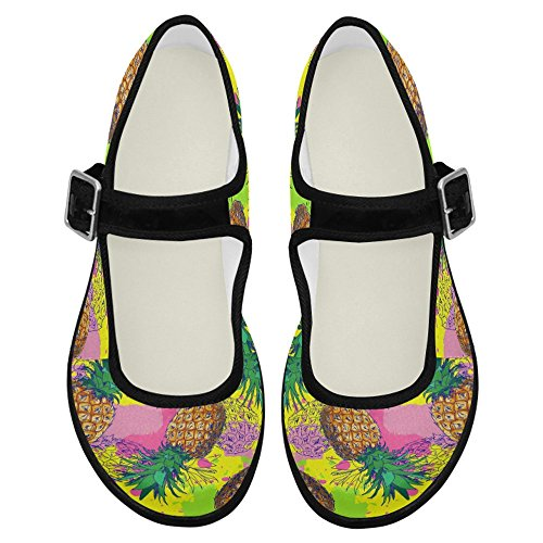 Casual InterestPrint Womens Jane Walking Shoes 5 Comfort Multi Flats Mary q6Xw6rT