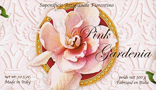 Saponificio Artigianale Fiorentino Pink Gardenia Single 10.5 Oz. Single Soap Bar From Italy