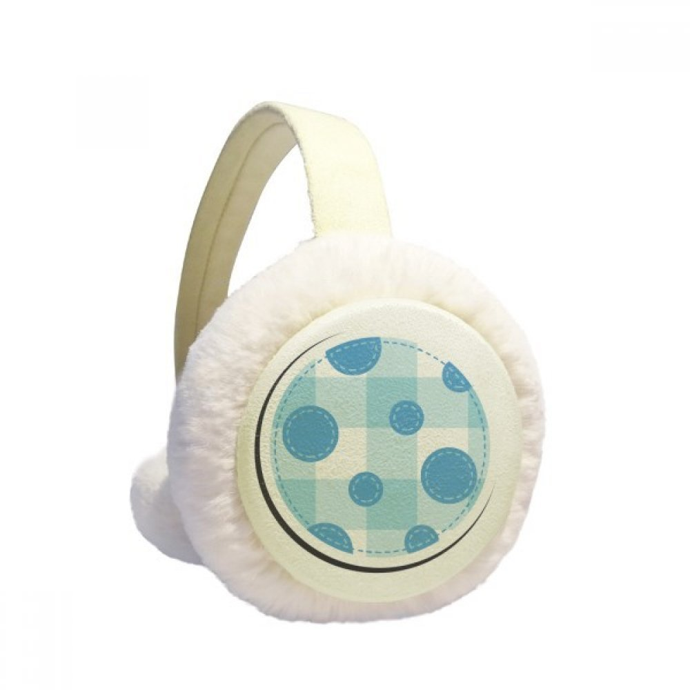 Universe And Alien Moon Winter Earmuffs Ear Warmers Faux Fur Foldable Plush Outdoor Gift