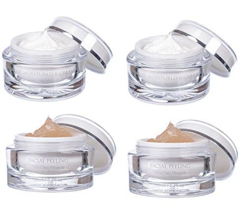 Dead Sea Exfoliating Gel - Vivo Per Lei 2 Pcs. Day Cream & 2 Pcs. Facial Peeling by Vivo Per Lei
