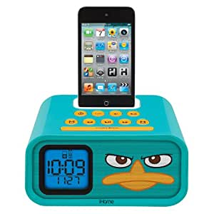 """Phineas and Ferb """"Agent P"""" Dual Alarm Clock and 30-Pin iPod Speaker Dock, DF-H22"""