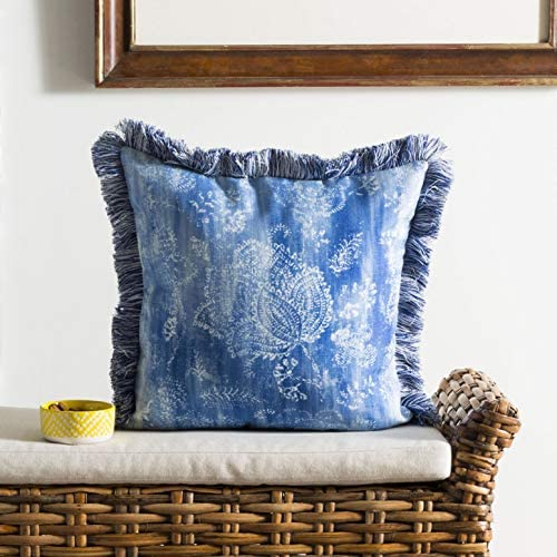 Safavieh Kayden Throw Pillow, Blue Cream