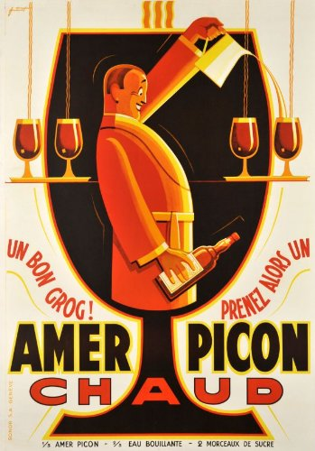 Vintage FRENCH ALCOHOL Advertising Poster A3 Reproduction Print