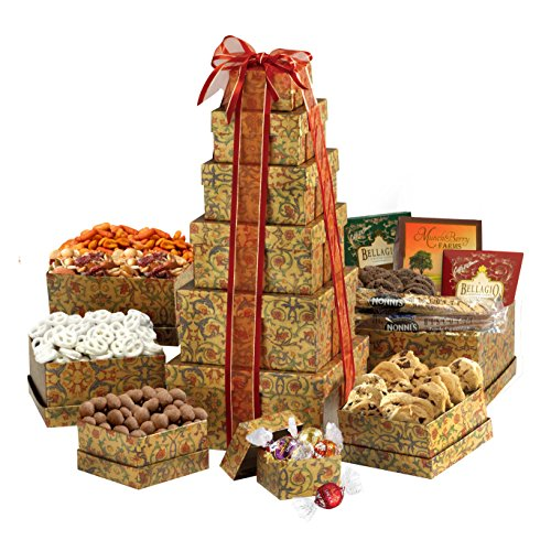 Broadway Basketeers Ultimate Gourmet Gift Tower (Gift Ultimate Tray)